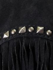 フリンジ スウェードジャケット(Black)-写真5