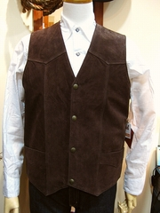 Boar Suede Vest(Chocolate)-写真1
