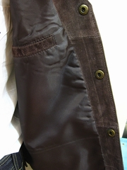Boar Suede Vest(Chocolate)-写真4