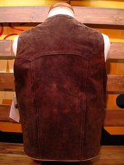 Boar Suede Vest(Chocolate)-写真2