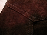 Boar Suede Vest(Chocolate)-写真5