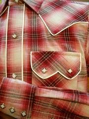 Shadow Plaid Piping Shirt-写真4