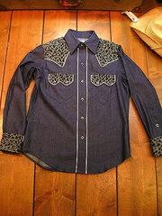 Denim/Leo print Shirt