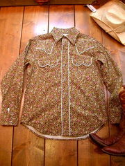 Cordy Floral print Shirt =Brown=