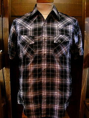 Gray Check Shirt-写真1