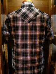 Gray Check Shirt-写真2