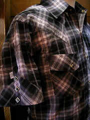 Gray Check Shirt-写真3