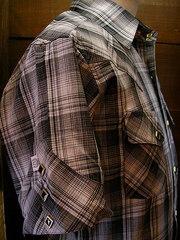 Gray Check Shirt-写真3
