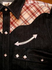 Check/Denim Shirt-写真3