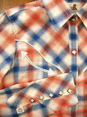 ラメチェック ウエスタンシャツ-写真3