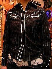 ヴィンテージ ストライプ ウエスタンシャツ-写真5