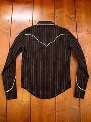 ヴィンテージ ストライプ ウエスタンシャツ-写真2